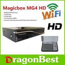 Set top box DVB-S2 / T2 / C receptor de satélite 800 MHZ MIPS procesador satélite receptor MAGICBOX MG4 HD integrada 300 M wifi libre shi
