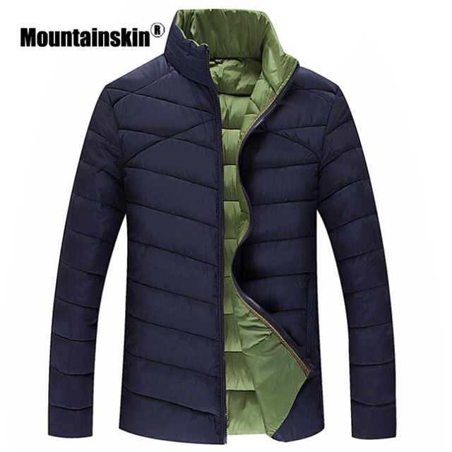Mountainskin Winter Jackets Men's Parka Plus Size 7XL 8XL Stand Collar Coat Men Outerwear Casual Solid Jacket Male Clothes SA334