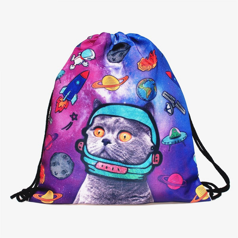 Space Cats 3D printing mini Backpack Women font b bags b font 2018 fashion font b
