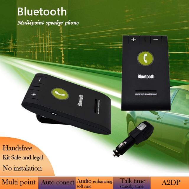 High Quality A2DP Bluetooth 4.0 EDR Car Speaker Car Kit MIC Sun Visor Clip In-Car Speakerphone for iPhone Samsung Sony HTC 8097