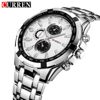 CURREN Luxury Brand Full Stainless Steel Analog Fashion Men S Quartz Watch Business Montre Watch Men