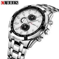 CURREN Luxury Brand Full Stainless Steel Analog Fashion Men S Quartz Watch Business Montre Watch Men