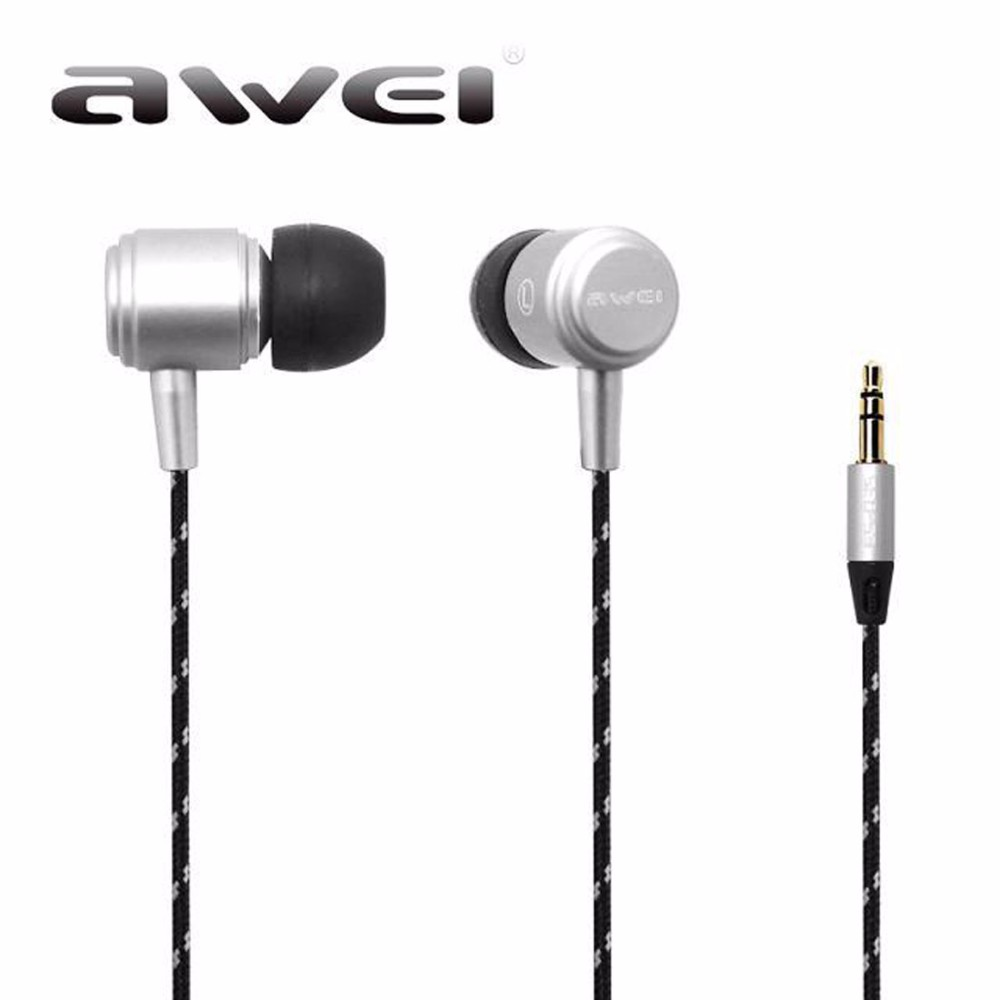 Awei ES Q35 Earphone HiFi Stereo In-ear Earphone Sound Music Earbuds Headset for iPhone Xiaomi Mp3 fone de ouvido original xiaomi mi hybrid earphone in ear 3 5mm earbuds piston pro with microphone wired control for samsung huawei p10 s8