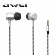 Awei ES Q35 Earphone HiFi Stereo In-ear Earphone Sound Music Earbuds Headset for iPhone Xiaomi Mp3 fone de ouvido
