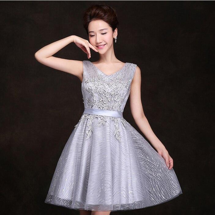 Elegant Knee Length Silver Dresses  Other dresses dressesss a0e049a0ee6e