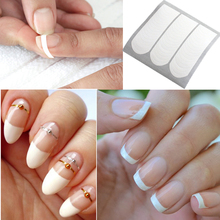 Form Guide Stickers Tips Design Decal French  Nail Art Fringe DIY Salon New Stencil