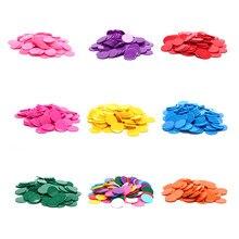 100 pçs/lote 9 cores 25mm plástico fichas de poker casino bingo marcadores token diversão clube da família jogos de tabuleiro brinquedo presente criativo