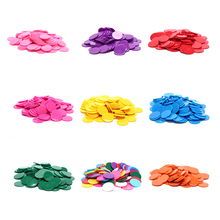 Poker-Chips Token Bingo-Markers Games Casino Plastic 100pcs/Lot Toy 9-Colors Club-Board