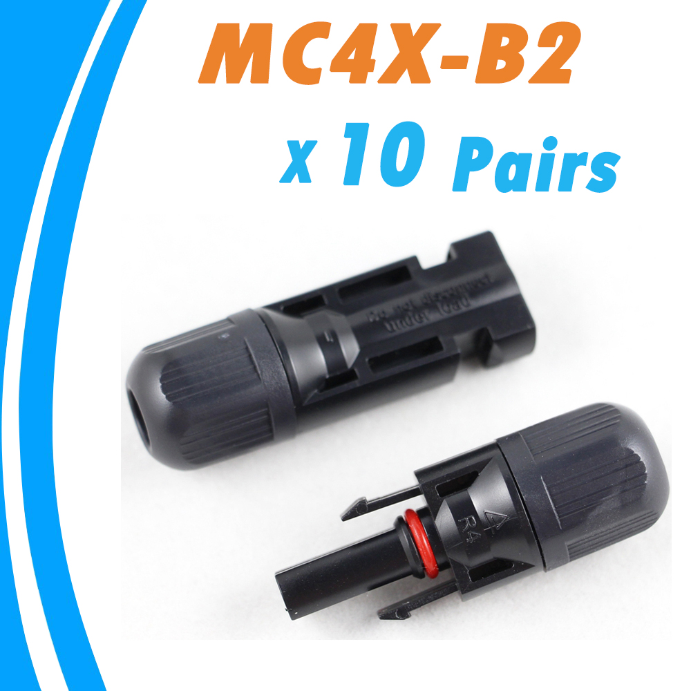 10 Pairs Male And Female MC4 Solar Panel Connector Used For Solar Cable Suitable Cable Cross Sections 2.5mm2~6.0mm2 MC4X-B1 IP67
