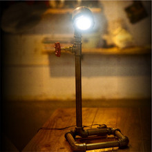 New Arrival DIY LED Lamp Bulb Iron Metal Table Lamps Personalized Vintage Water Pipe Table Lights Desk Book Lamp
