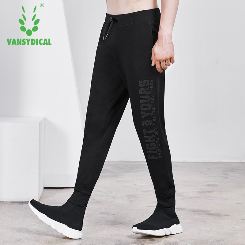Running Pants Vansydical Gym Sweatpants Mens Sports Running Pants Printed Letters Autumn Winter Outdoor Workout Jogging Trousers Male Customers First
