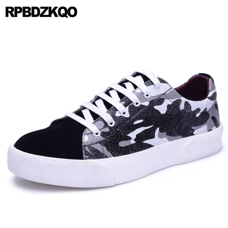 2017 New Men Flats Sneakers Camouflage Trainers Lace Up Boys Skate Creepers Spring Comfort Casual Stylish Popular Fashion Spring