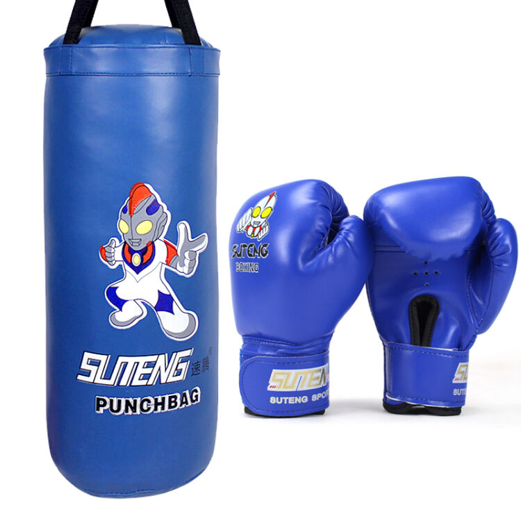ФОТО Kids Free-Standing Fitness Punching Bag carton design imitation leather  Product size:50cm(H)*21cm(D)