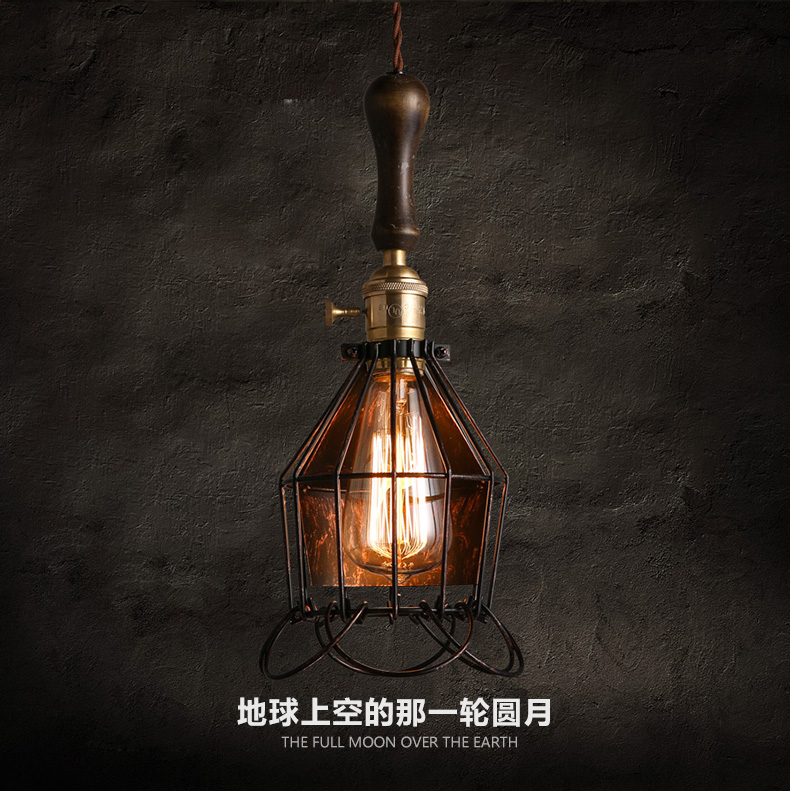 Loft Style Industrial Style Pendant Lighting Wrought Iron Vintage Light Fixtures Pure Copper Lamp Holder Edison Hanging Lamp black wrought iron loft lamp industrial pendant with candle holder rustic vintage light fixtures for room restaurant decoration