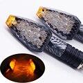 2 PCS 12 V 12 W motocicleta luzes LED ajuste à prova d ' água Snakeskin motocicleta sinais de volta luz Blinker
