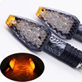 2 PCS 12V 12W Motorcycle LED Tuning Lights Waterproof Snakeskin Motorcycle Turn Signals Light Blinker
