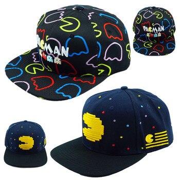 Pac hombre sombrero PACMAN forma fantasma juego de béisbol Snapback  ajustable Hip Hop sombreros para adultos niños niña Cosplay regalo 80e71a794e6
