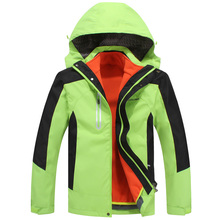 hiking jacket men Windbreaker waterproof ski and snowboard outdoor rain jacket Mountaineering fleece jacket two-pieces