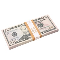 FAKE MONEY FULL PRINT 50s Dollar bill New Style Paper Money Movie Money