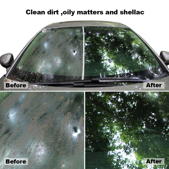6 Pcs Solid Car Glass Cleaner Super Concentrated Effervescent Fine Auto Windshield Wash Solid Wiper Cleaner