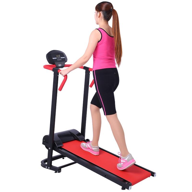 Mini tapis roulant mécanique pliable de Machine de marche de ménage de tapis roulant avec le roulement monofonctionnel de 2 couleurs 200 kg