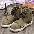 Мужчины осенние высокой помощь причинные обувь марка толстые платформы удобные спортивная обувь качество натуральная кожа армии зеленый роскошные сапоги