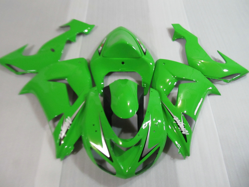Top selling fairing kit for Kawasaki Ninja ZX10R 06 07 green fairings set ZX10R 2006 2007 OT12 motorcycle fairing kit for kawasaki ninja zx10r 2006 2007 zx10r 06 07 zx 10r 06 07 west white black fairings set 7 gifts kd01