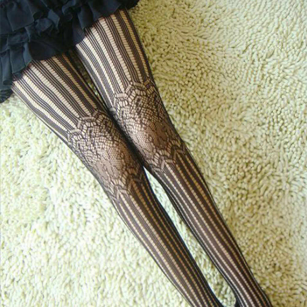 Mode vrouwen Sexy Kant kousen geometrische Patroon Panty Panty Kousen Lange Boot vrouwen Dij Hoge Knie Kousen