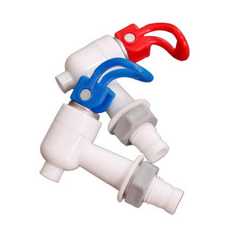 Urijk  Blue White Drinking Fountain Part  Water Dispenser TapThread Dia Bottled Water Dispenser Spigot Valve Faucet 2PCS