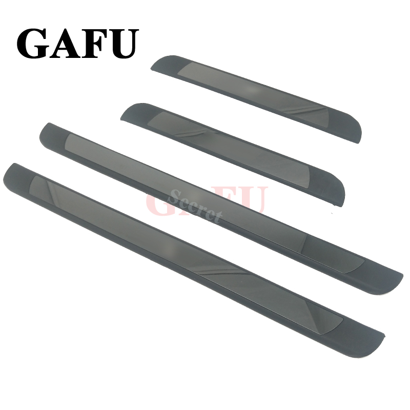 For VW Golf 4 5 6 7 GTI MK4 MK5 MK6 MK7 2004-2018 Stainless steel scuff plate door sill Car-Styling Car Accessories наклейки hong 50 5 8 4 vw golf mk7 stikers