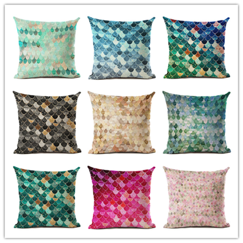 2016 Hot Selling Sequin Sand Home Decorative Sofa Cushion Throw Pillow Case Cotton Linen Square Pillows