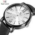 Exclusivo Personalizado Top Logo Marca de Luxo V6 Homens Relógio esportivo de Borracha Estilo Relógios Relogio masculino Moda Quartzo Relógio de Pulso