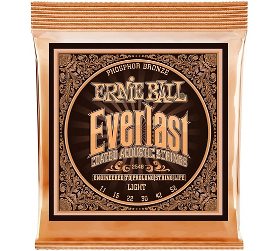 Ernie Ball 2548 Ever-last Phosphor Light Acoustic Guitar Strings 011-052 gibson sag mb11 masterbuilt phosphor br 011 050