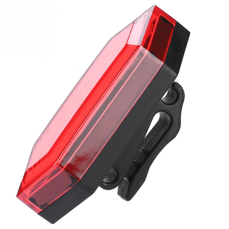 Bike-Lamp Red-Light Tail Night-Riding-Accessory Usb-Charging Safety-Warning Waterproof