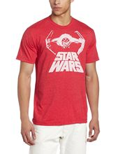 Authentic STAR WARS Bat Fighter Logo Galactic Empire Slim Fit T-Shirt L NEW Free shipping  Harajuku Tops Fashion Classic