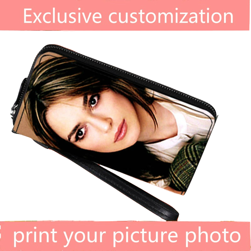 Private custom exclusive wallet long paragraph personality zipper hand bag fashion picture photo custom print DIY gift wallets in Wallets from Luggage Bags