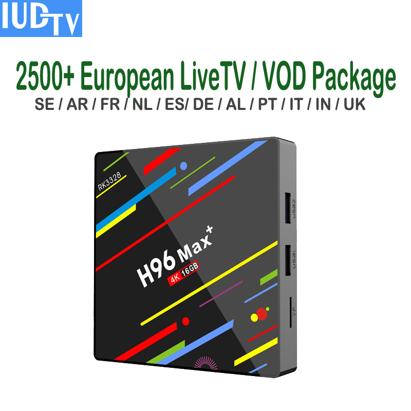 Spanish IPTV Subscription IUDTV 1 Year 4K Set Top Box Android 9 0 Sweden French Romanian