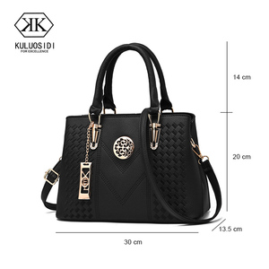 Image 2 - Embroidery Messenger Bags Women Leather Handbags  Bags for Women 2019 Sac a Main Ladies Hand Bag