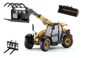 CAT CATERPILLAR TH407C TELEHANDLER W/ ATTACHMENTS FEATURES 1/32 BY NORSCOT 55278(China)