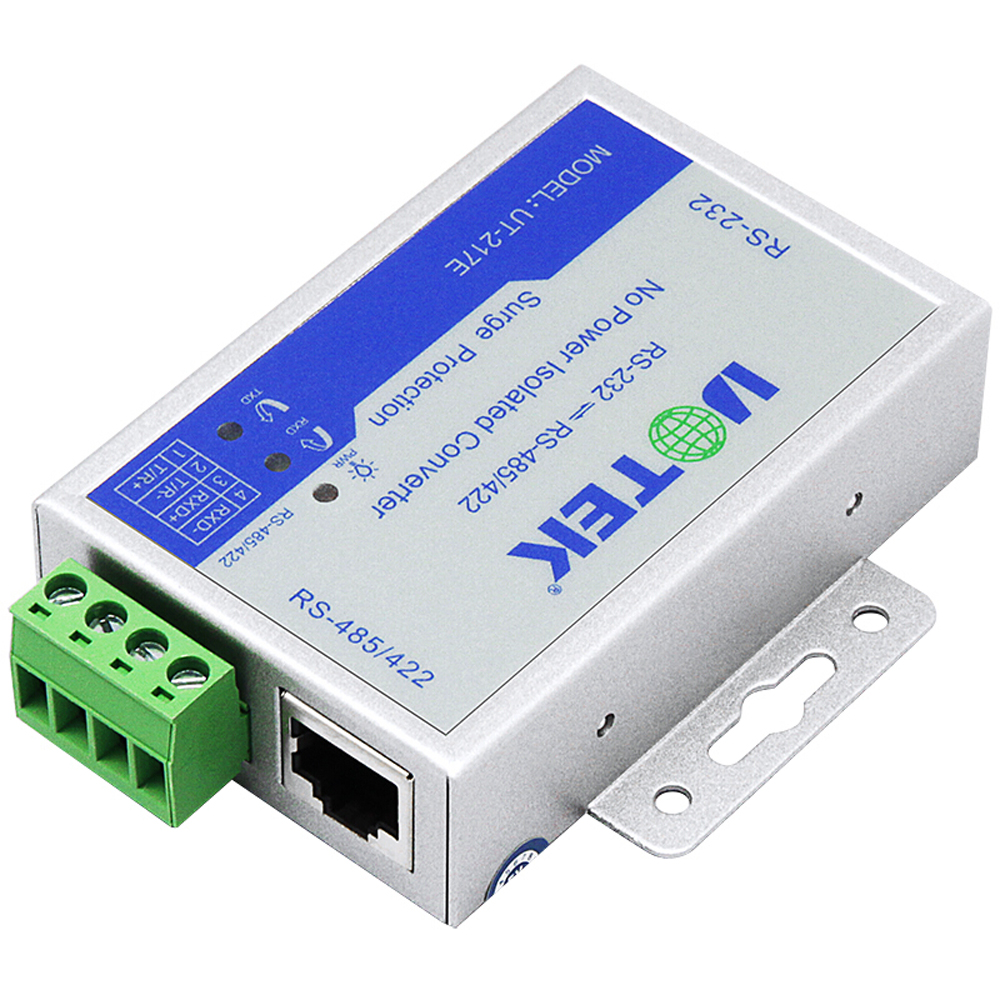 UT-217E Port-powered RS-232 to RS-485/422 Wall-mounted PhotoElectric Isolation rs232 to rs485 422 converter switch 422 to 232 optical isolation module