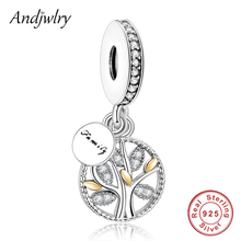 925 Sterling Silver Pendant Charms Fit Pandora Charms Bracelet Necklace Family Life Tree Bead Dangle Women DIY Jewelry Berloque