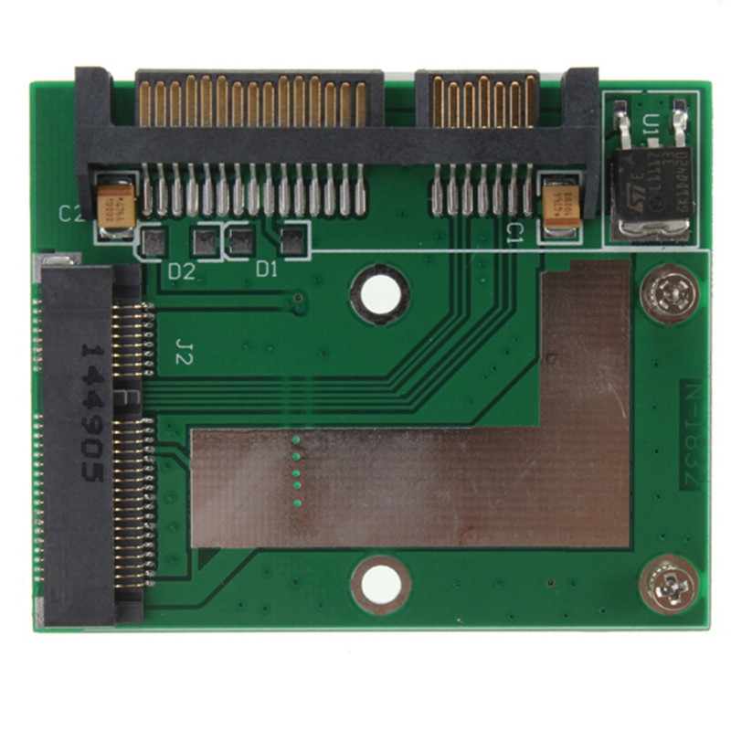 Factory Price mSATA SSD To 2.5Inch SATA 6.0 Gps Adapter Converter Card For laptop desktop On sale Hight Quality
