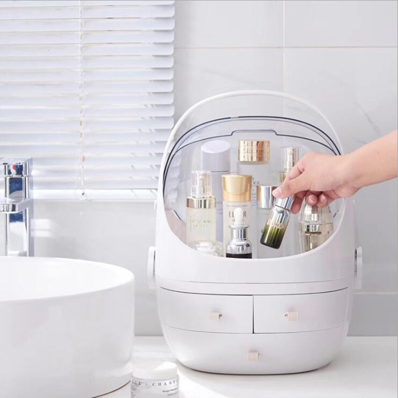 Storage-Box Cosmetic-Case Detachable Transparent Large-Capacity Waterproof Household