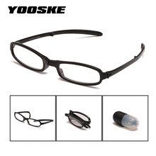 099e5ed6e6 YOOSKE plegable gafas de lectura de las mujeres portátiles lápiz caso gafas  hombres titular de la pluma hipermetropía gafas diop.