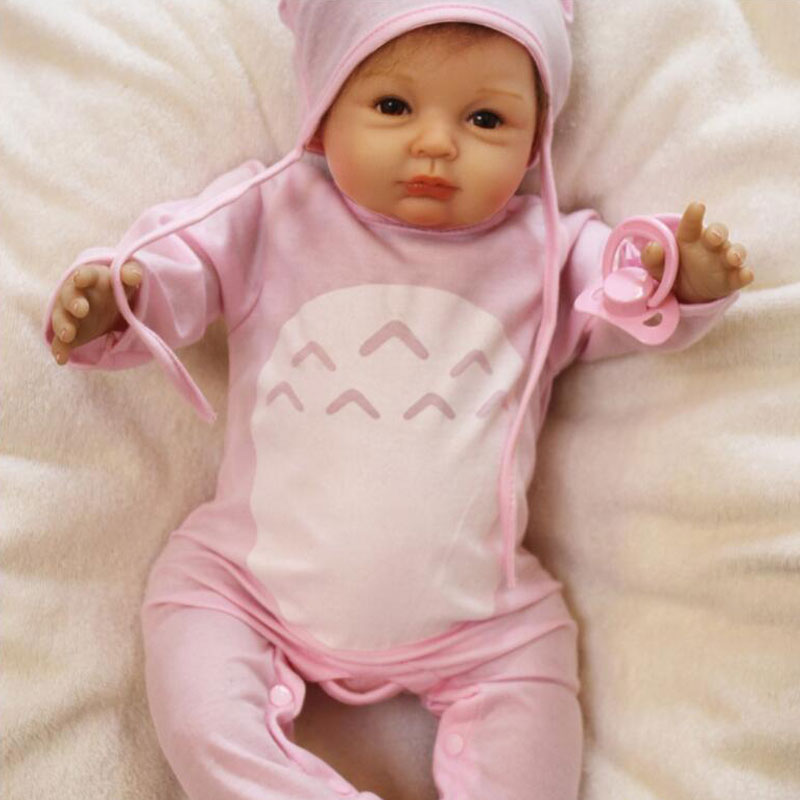 Cute BeBe Reborn Doll PP Cotton Body 55cm Silicone Reborn Baby Dolls Lifelike Newborn Baby Gift Juguetes Babies Toys in Dolls from Toys Hobbies
