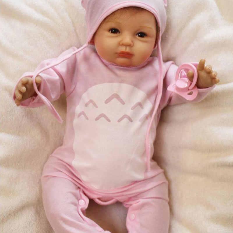 Leuke BeBe Reborn Pop PP Katoen Lichaam 55cm Siliconen Reborn Baby Poppen Levensechte Pasgeboren Baby Gift Juguetes Baby Speelgoed