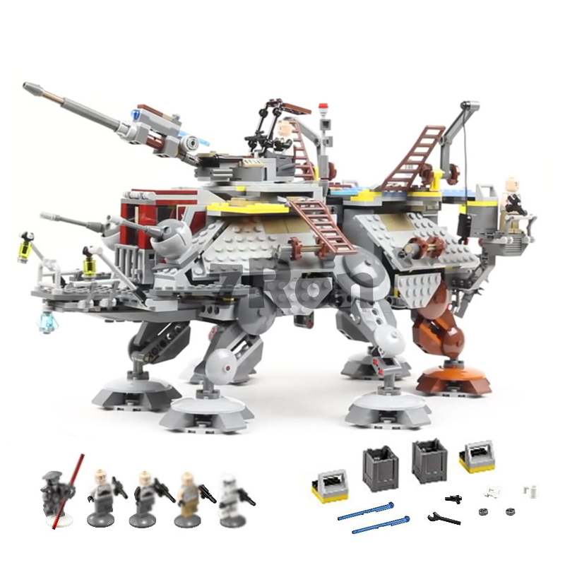 1022Pcs StarWars Captain Rex's AT-TE Model Building toys hobbies Brick 05032 Boys Gift compatible with lego Blocks 75157 lepin 1022pcs star series wars captain rex s at te building blocks brick lepin 05032 boys toys gift compatible legoingly 75157
