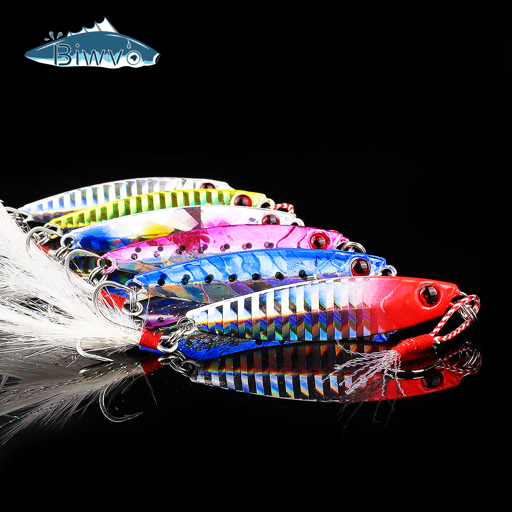 Biwvo Jig Fishing Lures Goods All For Fishing Shad Bait Spinnerbait Winter Sea Ice Minnow Tackle Squid Peche Octopus 10 20g 30g