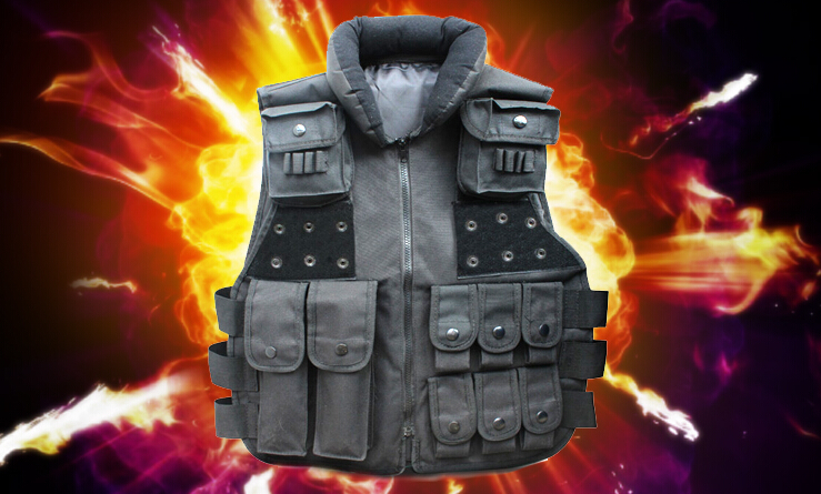 Tactical vest Outdoor equipment Cycling vest CS Field equipment Protection armor Self-defense equipment upgraded version of the cs special tactical vest vest american field equipment thickening tactical vest