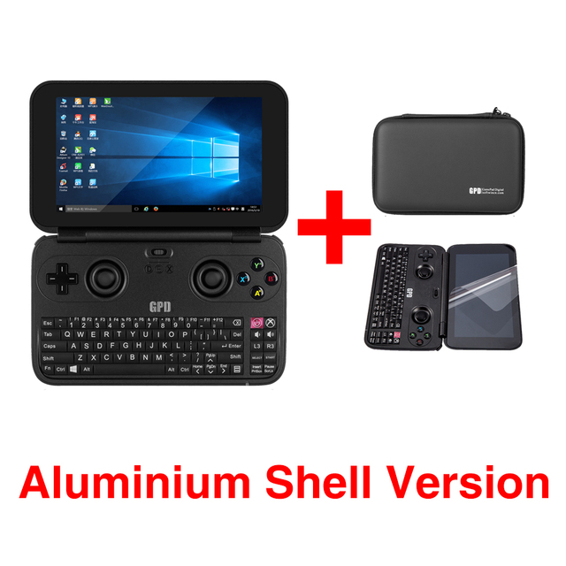 GPD WIN Aluminium Shell Version 5.5 Inch Mini Game Laptop Notebook CPU x7-Z8750 Windows 10 System Bluetooth 4.1 4GB/64GB(Black)